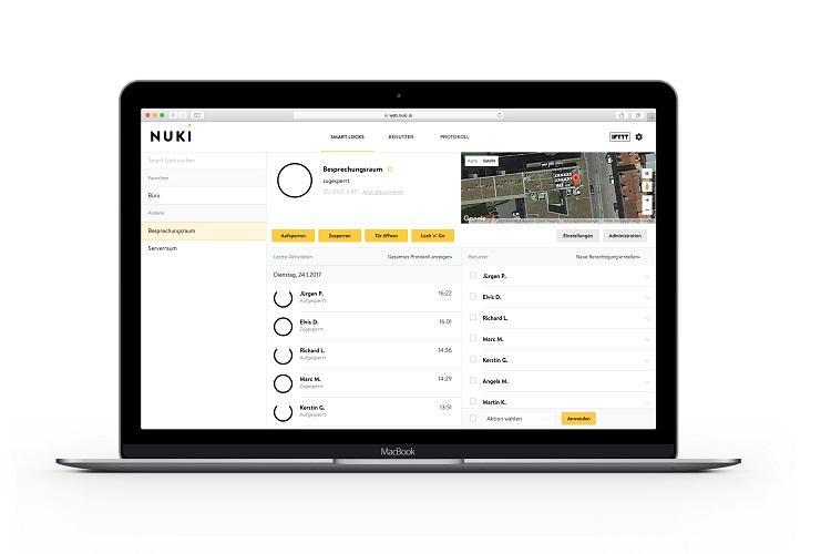 Mit Nuki Web lassen sich smarte Schlösser steuern
