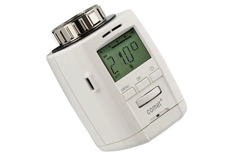 Das elektronische Thermostat Comet Plus von Eurotronic bemerkt offene Fenster und reduziert dann die Temperatur automatisch