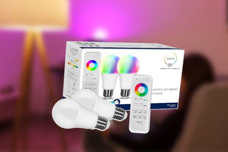 Das tint System kann wahlweise mit Alexa Sprachbefehlen oder per Fernbedienung gesteuert werden