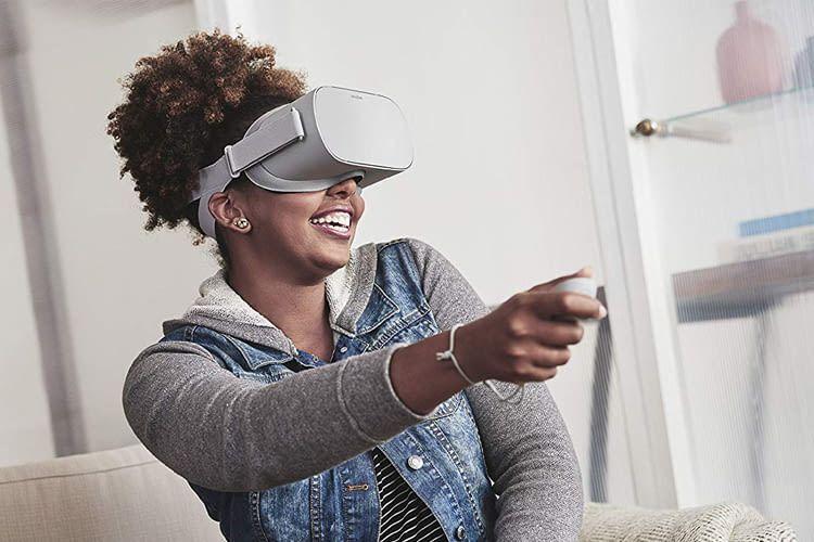 Oculus GO ist wahlweise mit 32 oder 64 Gigabyte Speicherplatz für Spiele, Fotos und Videos erhältlich