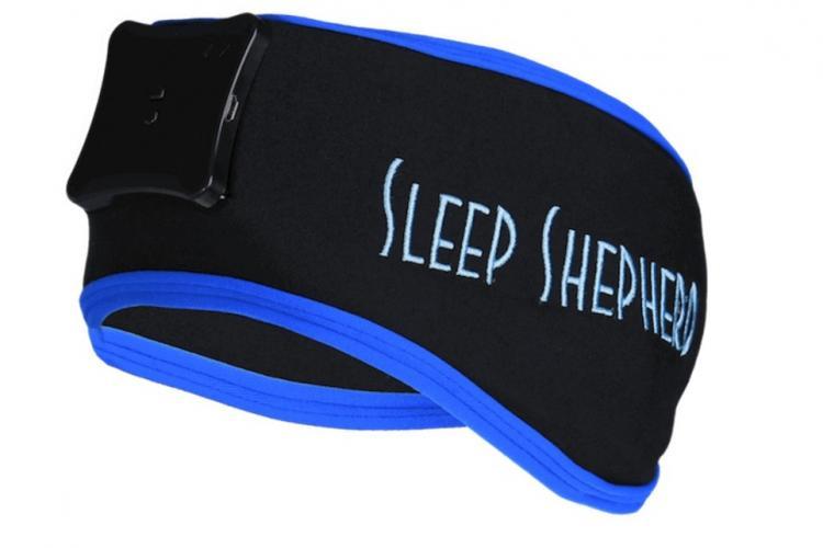 Sleep Shepherd Blue Stirnband mit EEG-Sensoren zur Schlafüberwachung