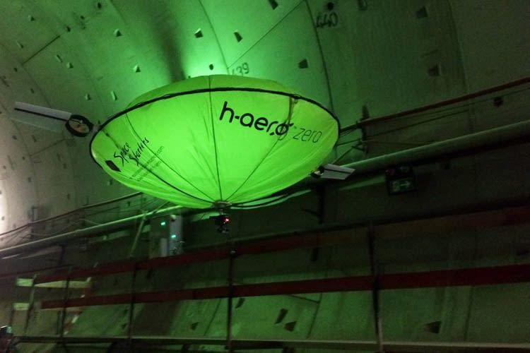 Das hybride Flugsystem h-aero kann auch zur Tunnelerkundung genutzt werden