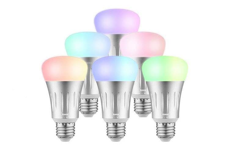 Die Bawoo LED-Birne sieht dank silberfarbener Optik sehr edel aus