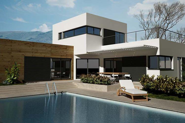 Modernes Haus mit Schwimmbad