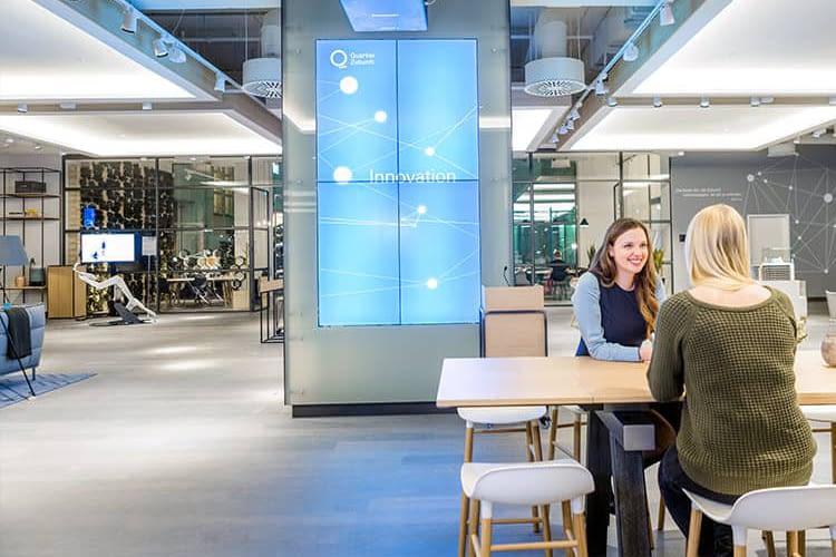 Das Quartier Zukunft der Deutschen Bank ist der Austragungsort der Green Startups Lounge