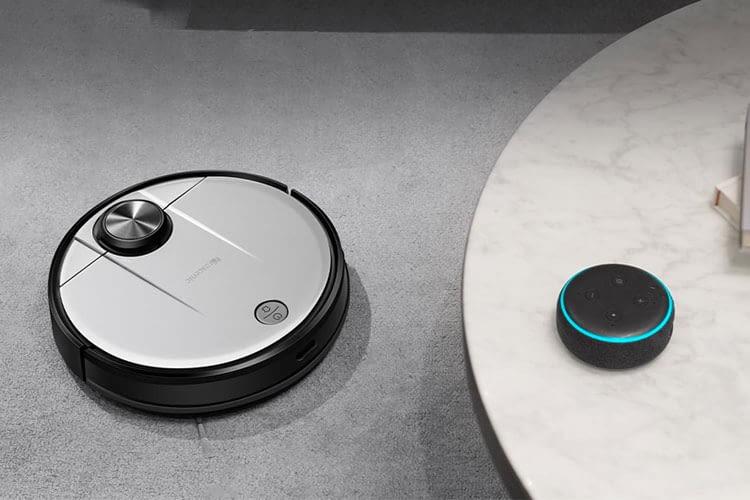 In Verbindung mit einem Echo Lautsprecher hört Proscenic M6 PRO auch auf Alexa