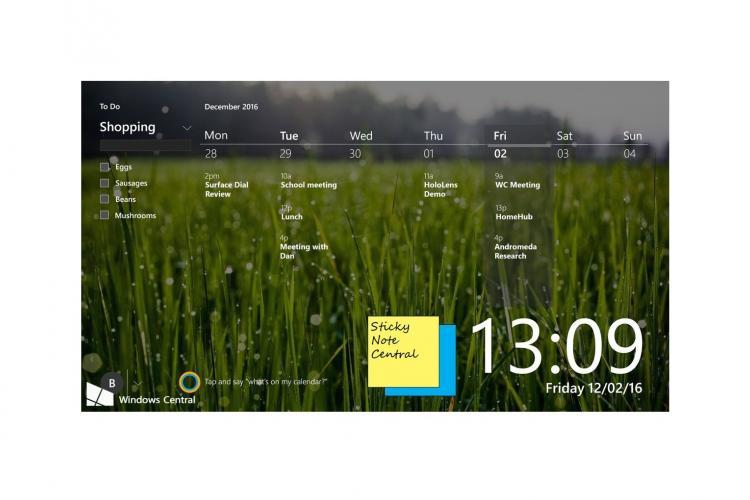 Entwurf für Home Hub Benutzeroberfläche