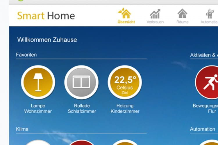 GreenPocket Smart Home App auf Smartphone und Tablet