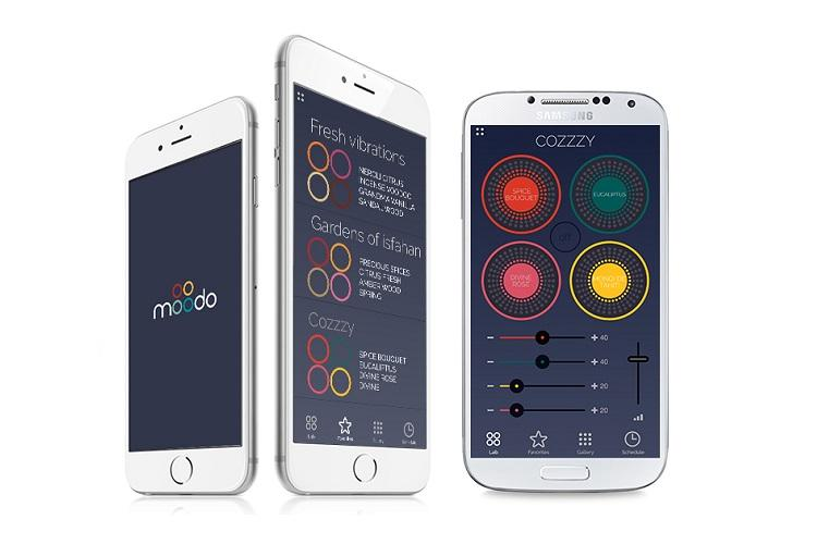 Benutzeroberfläche der Moodo App