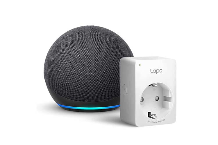 Mit Echo Dot, der neuesten 4. Generation, und passender Funksteckdose kann man nicht viel falsch machen