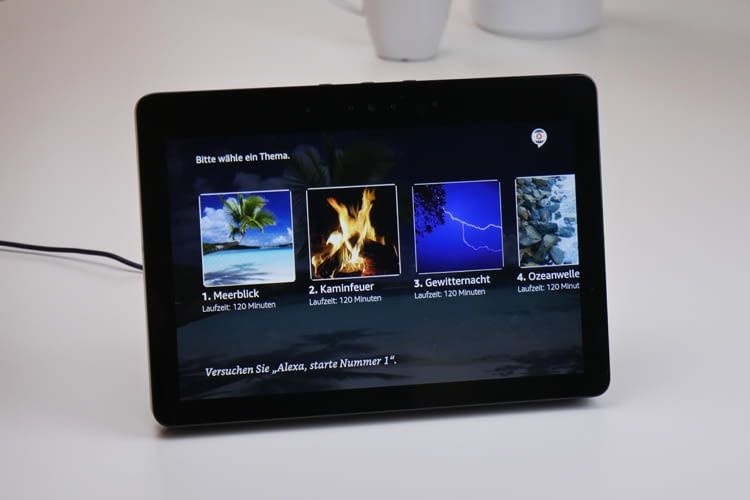 Echo Show bietet viele verschiedene Bildschirmschoner zu Auswahl