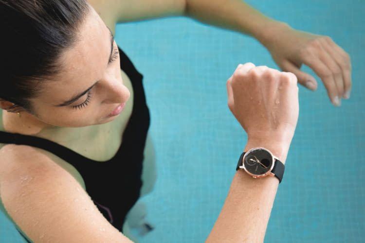 Bis zu 50 Meter ist die Withings Steel HR Hybrid Smartwatch wasserdicht