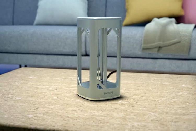 Die Philips UV-C Desinfektionstischlampe überzeugt mit vielen Sicherheitsmechanismen