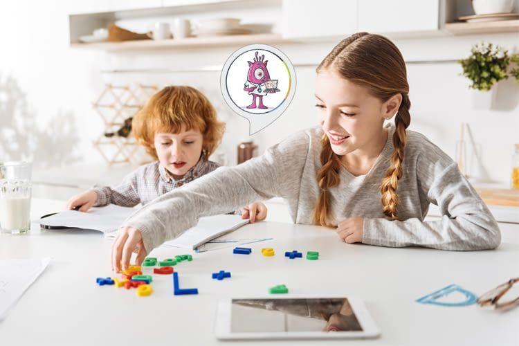 Mit dem Mathemonster-Skill lassen sich Kinder leichter zum Lernen motivieren