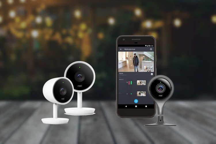 Unser Symbolbild zeigt drei der vier Kameramodelle zusammen mit der Hersteller-App