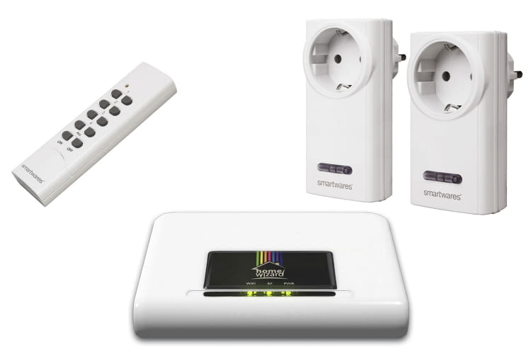 HomeWizard Starterset, 1x IP Gateway Box, 2x Funkschalter, 1x Fernbedienung 4Kanal