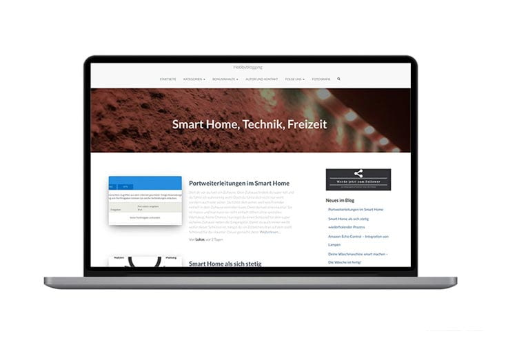 Bei 'Hobbyblogging' werden Smart Home Geräte unter Alltagsbedingungen getestet