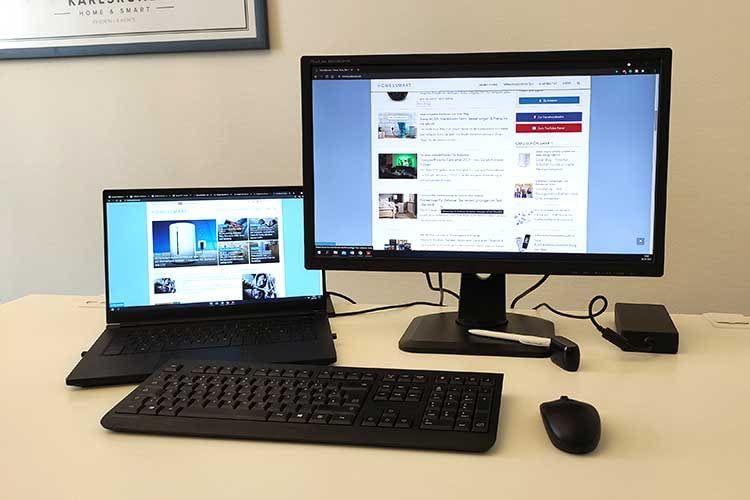 Mit einem Monitor lässt sich die Produktivität im Homeoffice steigern