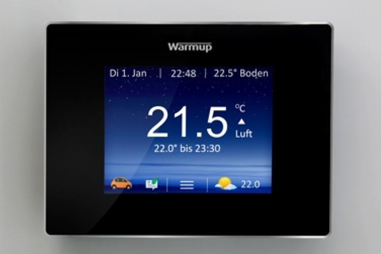 Bedienelement Smart Thermostat 4iE von Warmup