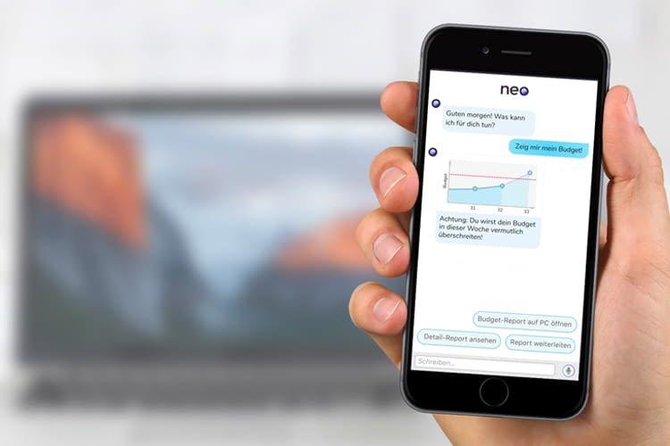 Business-Sprachassistent Neo kann zum Beispiel die KPIs in Erinnerung rufen