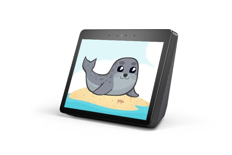 Der Seehundstation Norddeich Alexa Skill macht mit Amazon Displays besonders viel Spaß