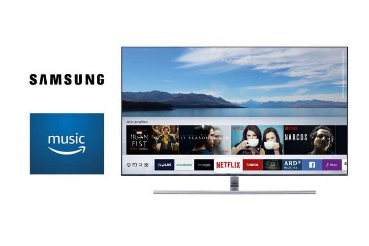 Samsung Smart TVs unterstützten ab sofort Amazon Music