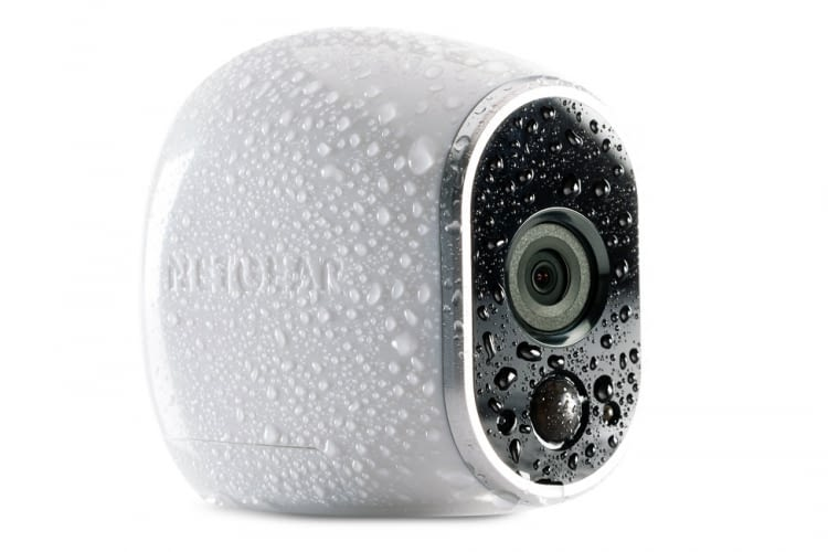 Die Arlo Überwachungs-/Sicherheitskamera für Smart Homes ist wasserfest