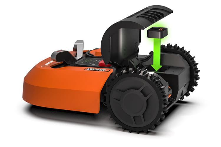 Ein Worx Landroid Mähroboter lässt sich um neue Funktionen wie GPS oder Ultraschall Sensoren erweitern