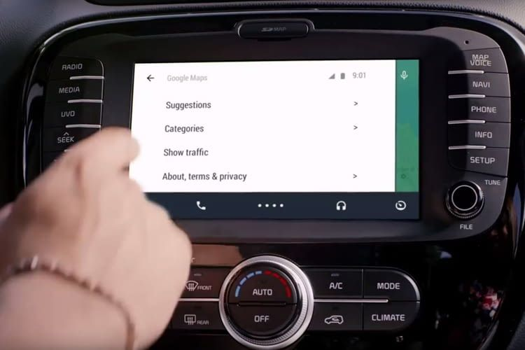 Android Auto ist mit dem Entertainment-System vieler Autos koppelbar