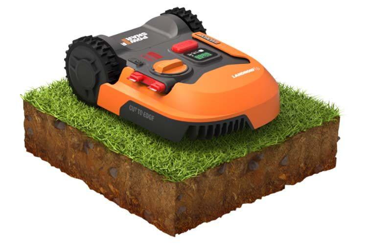 """Die """"Cut to Edge""""-Technologie des Landroid M 500 (WR141E) erlaubt ein Mähen nah an der Rasenkante"""