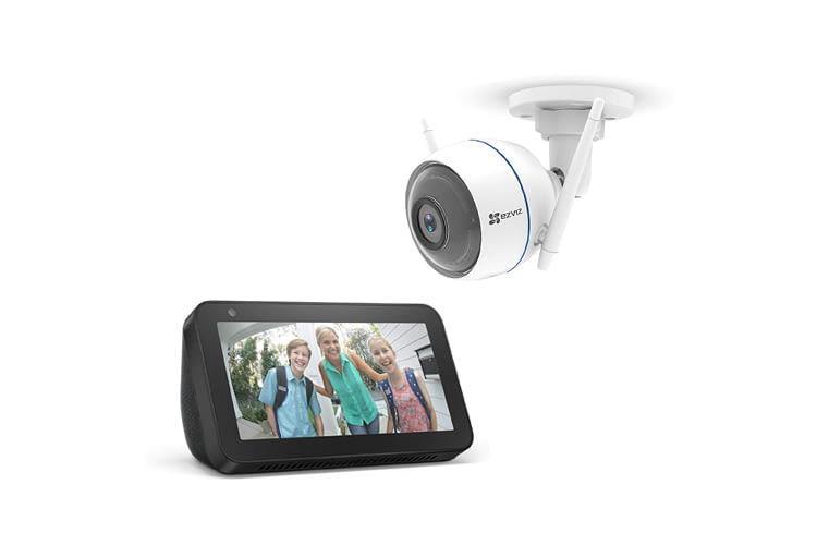 Alexa Displays können sich z.B. mit einer Überwachungskamera verbinden