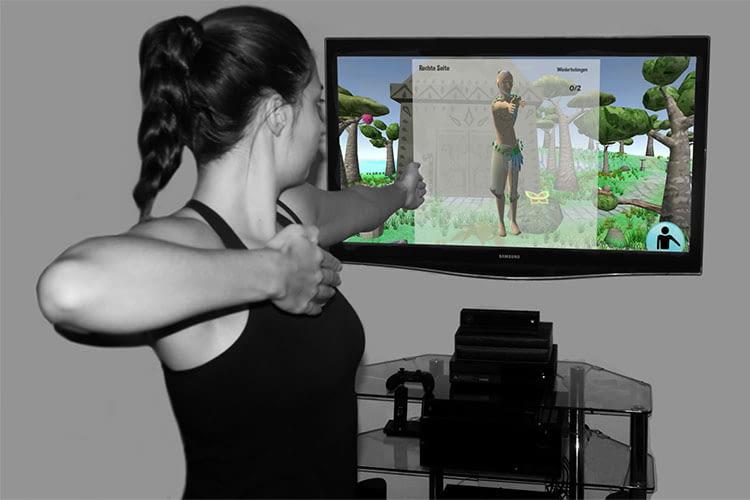 AmbiGate eReha ermöglicht eine 3D-Kamera basierte Bewegungstherapie