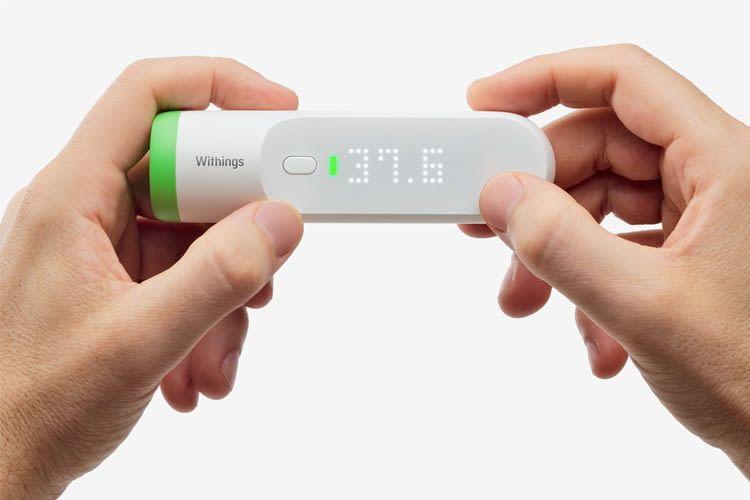 Auch im Dunkeln zeigt Nokia Thermo die gemessenen Werte übersichtlich an