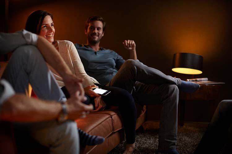 Das Philips Hue Lichtsystem sorgt für die richtige Lichtstimmung im Zuhause