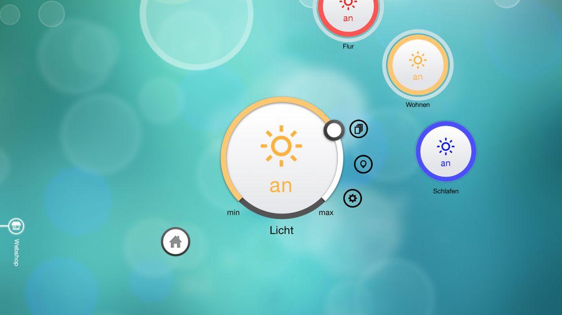 Startbildschirm Daheim App Modul Licht