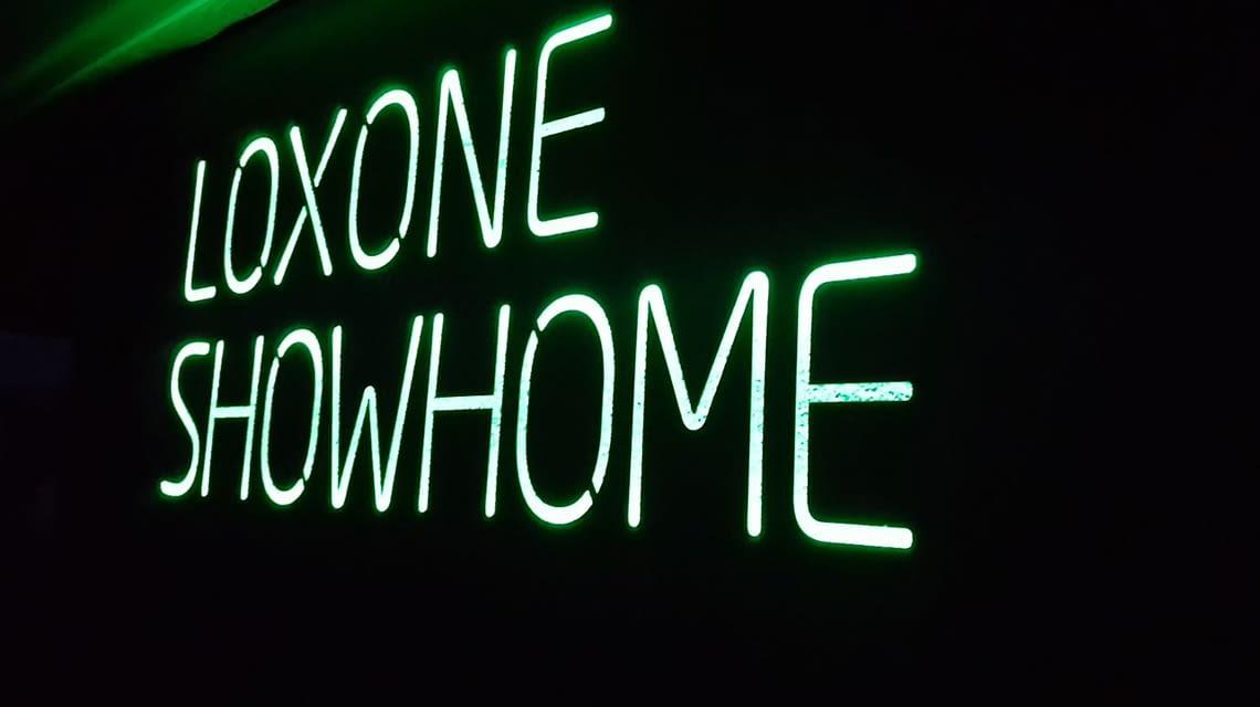 Das Unternehmens-Grün begrüßt Besucher im Showhome