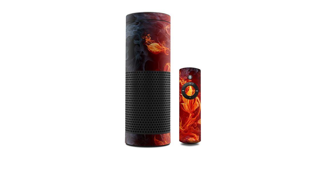 amazon-echo-skin-rot-feuer-flammen