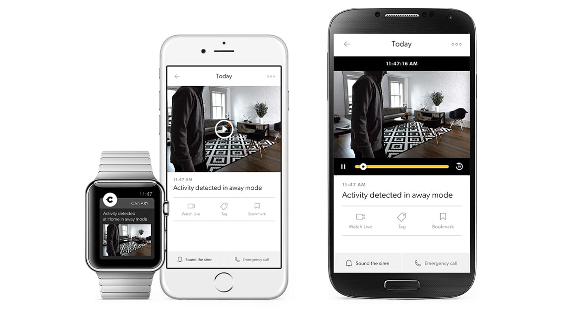 Canary-App funktioniert für Android, iOS und auch mit der Apple Watch