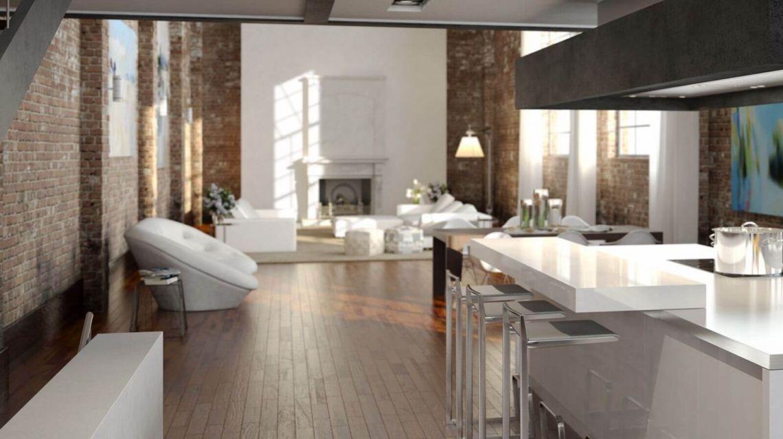Räume Wohnzimmer Licht Schritt