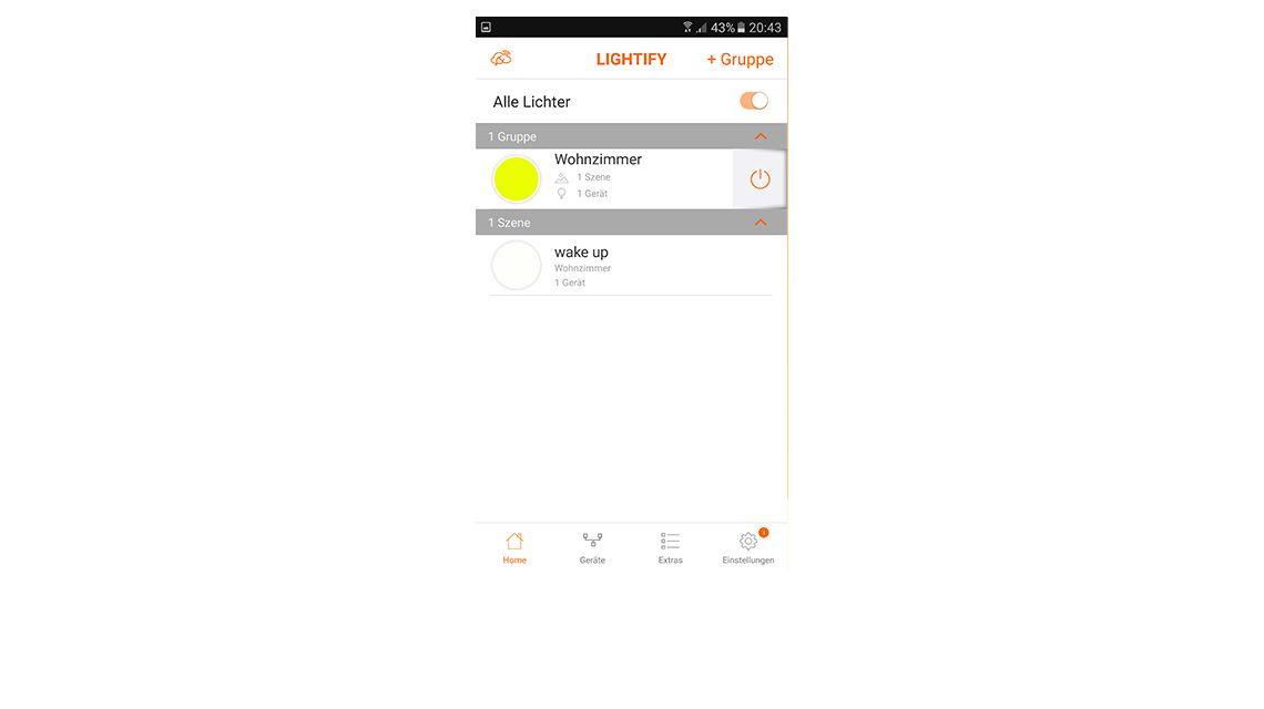 Osram Lightify App Android Lichtsteuerung Szenen Gruppen