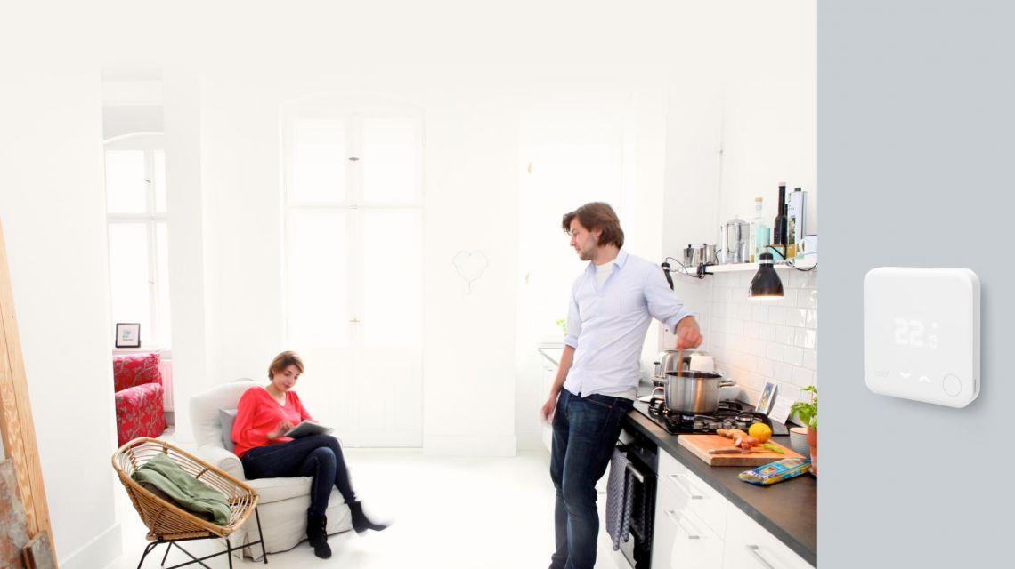 tado Wandthermostat in der Küche