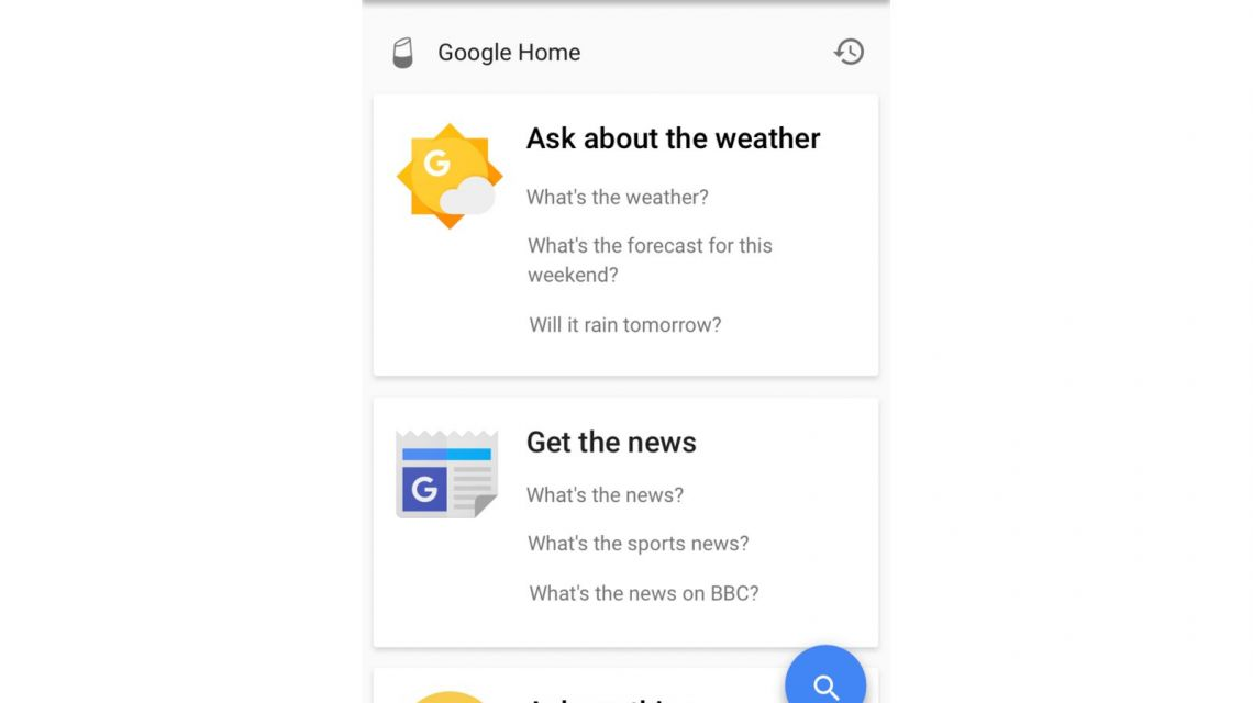 Google Home phone-discover