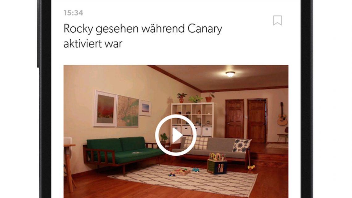 Canary App Übersicht
