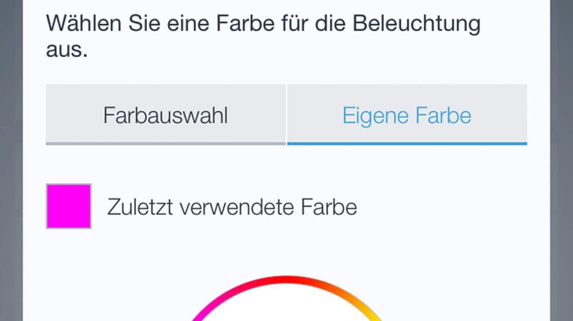 Bosch App Farbauswahl