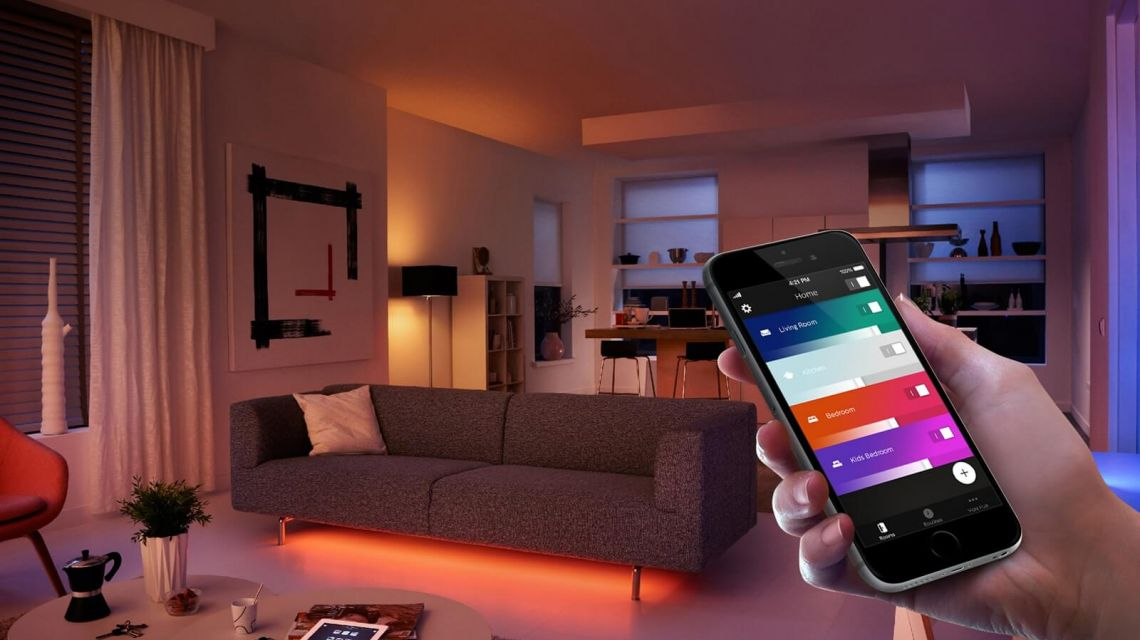 Smarte Lichtsteuerung mit Philips Hue App
