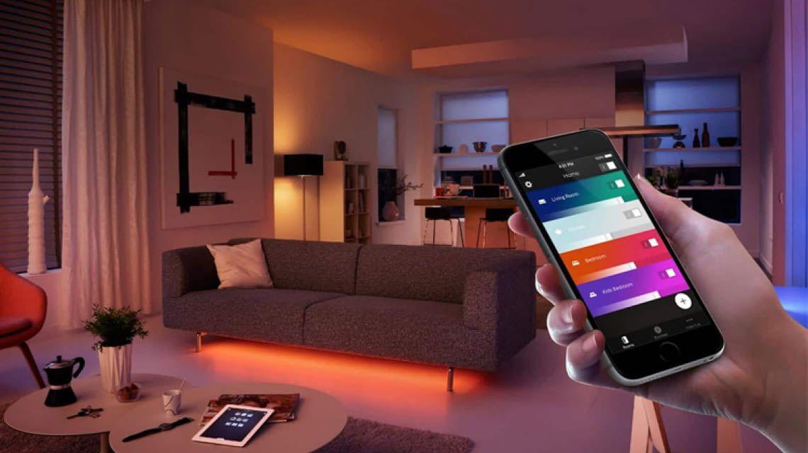 Per App sind auch die Philips Hue LightStrips fernsteuerbar