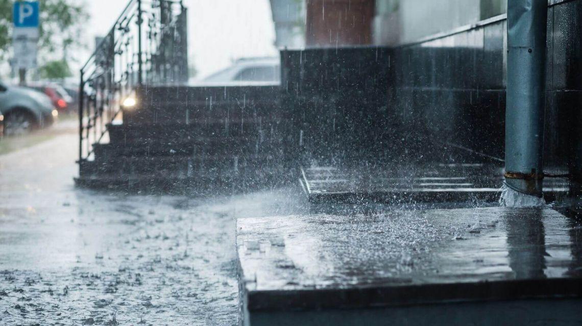 Räume Garten Wetter Regen