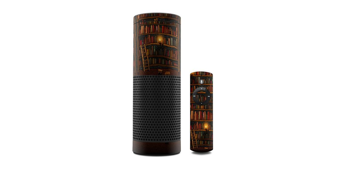 amazon-echo-skin-bibliothek-buecher
