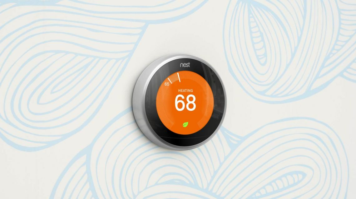 nest Thermostat im Heizmodus