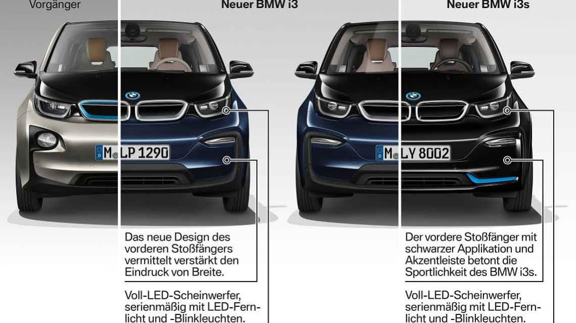 BMW i3 vs. BMW i3s - die beiden Elektroautos im Vergleich